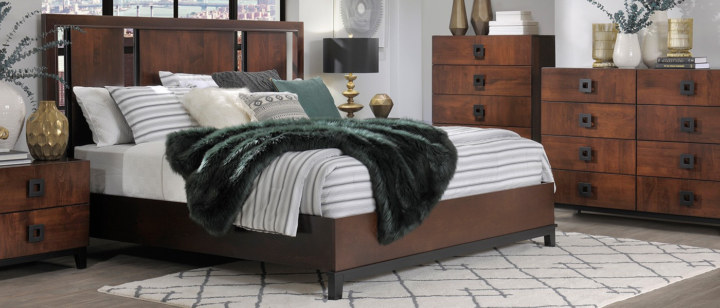 american_modern_bedroom_wood_panel_bed