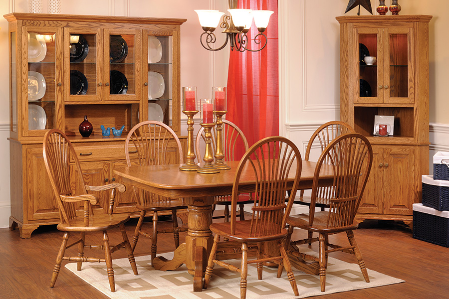 American dining collection with double pedestal table