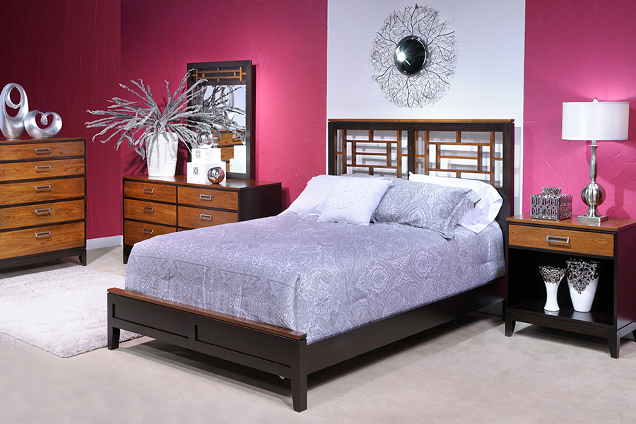 eastwood bedroom collection with queen bed with fretwork