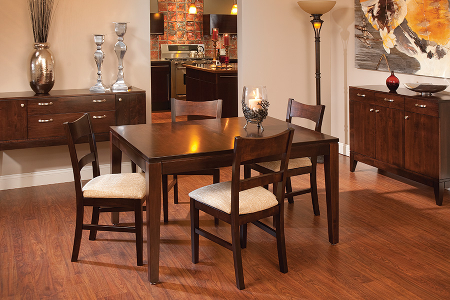 Platinum Leg Table Dining Collection