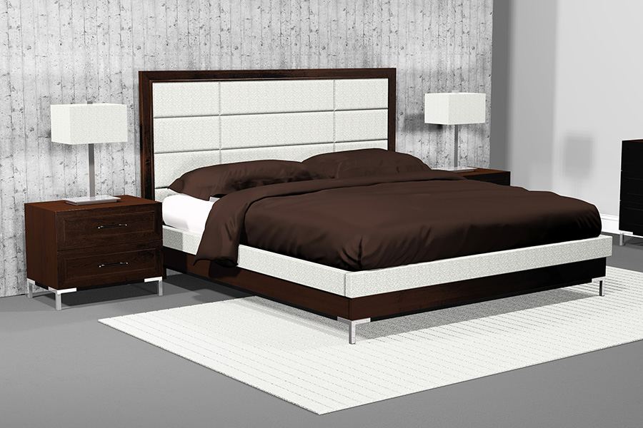 american modern 12 panel upholstered bedroom