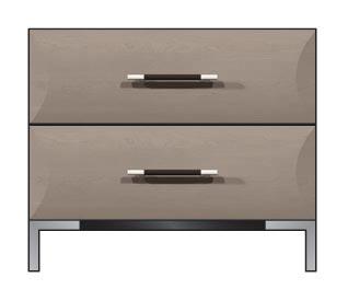 """28"""" 2-drawer nightstand"""