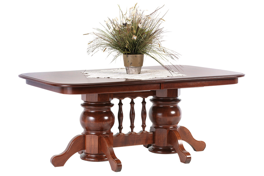 solid top double pedestal
