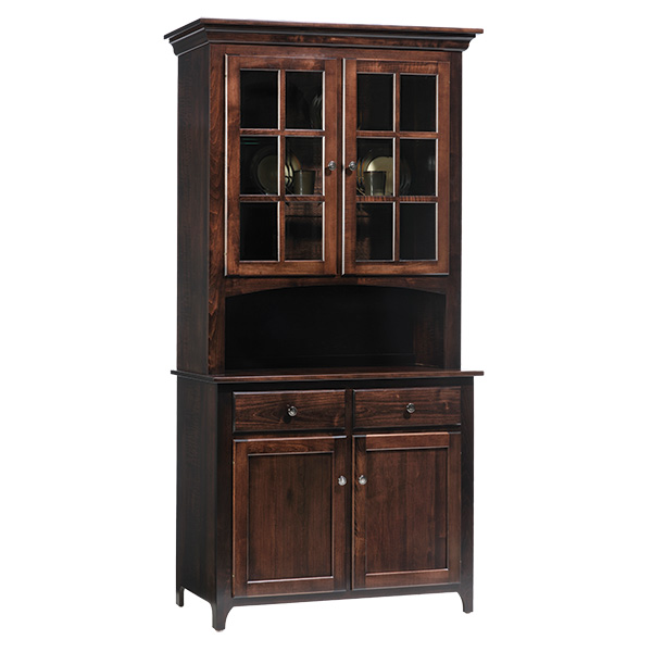 two door shaker hutch and buffet