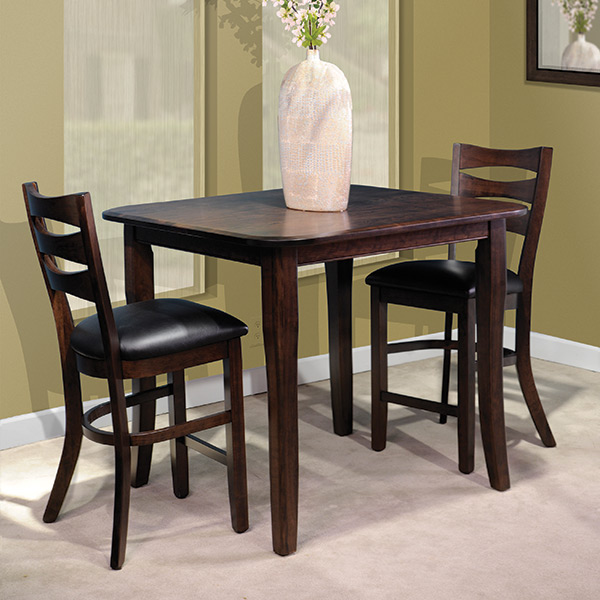 square and round top leg table