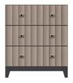 3-drawer bedside chest