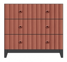 36inch 3 drawer bedside chest