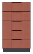 28 inch 5 drawer chest