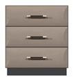 "28"" 3 drawer bedside chest"