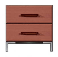 24 inch 2 drawer nightstand