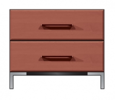 28 inch 2 drawer nightstand