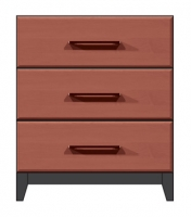 "28"" 3 drawer bedside chest"