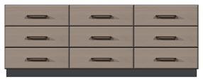 "84"" 9-drawer dresser"