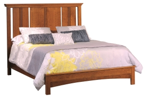 Great Lakes sleigh bed with european footboard