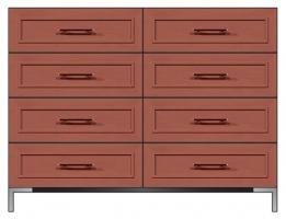 56 inch 8-drawer dresser