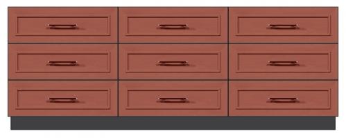 84 inch 9-drawer dresser