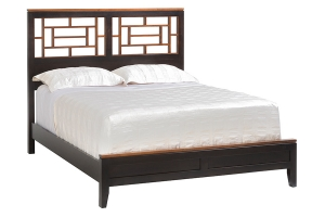 Eastwood bed with fretwork headboard
