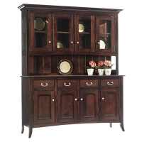 four door hutch and buffet
