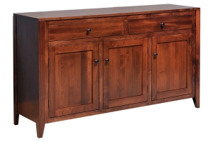 three door sixty four inch buffet