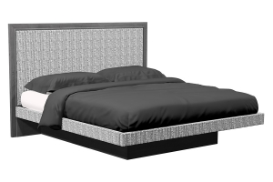 american modern upholstered queen platform bed