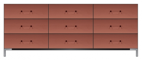 84 inch nine drawer dresser