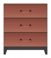 28 inch three drawer bedside chest
