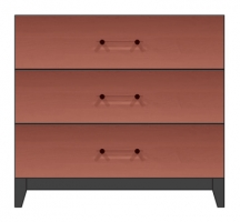 36 inch 3 drawer bedside chest