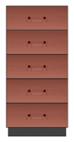 24 inch five drawer chest