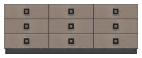 84 inch nine drawer dresser