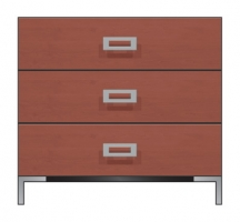 36 inch three drawer bedside chest
