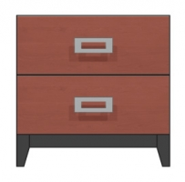 24 inch two drawer nightstand