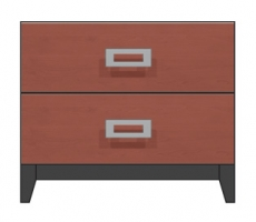 28 inch two drawer nightstand