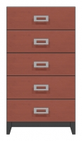 28 inch five drawer chest