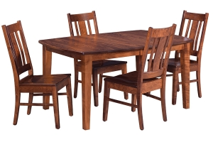 express ship dining table with four side chairs from cvw