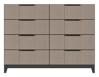 american modern eight drawer dresser wood leg