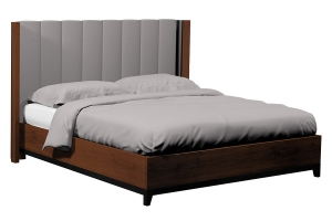 american modern queen bed wood legs